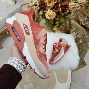 Nike Air Max 90 LX Dusty Peach Velvet
